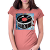 Drum Record Player Womens Fitted T-Shirt