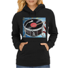Drum Record Player Womens Hoodie