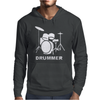 DRUMMER DRUM KIT INDIE ROCK MUSIC Mens Hoodie
