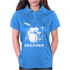 DRUMMER DRUM KIT INDIE ROCK MUSIC Womens Polo