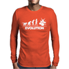 Drummer Evolution Mens Long Sleeve T-Shirt