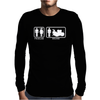 Drums - Problem Solved - Mens Funny Mens Long Sleeve T-Shirt
