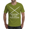 Drums - Weapons of Mass Percussion Drumming Humor Mens T-Shirt
