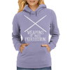 Drums - Weapons of Mass Percussion Drumming Humor Womens Hoodie