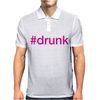 #drunk Hashtag Neon Pink Mens Polo