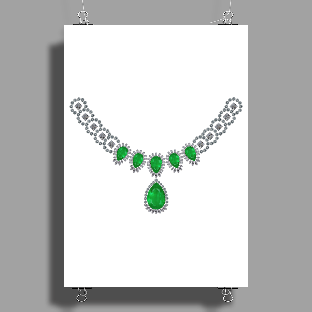 Duchess of Windsor's Emeralds Poster Print (Portrait)