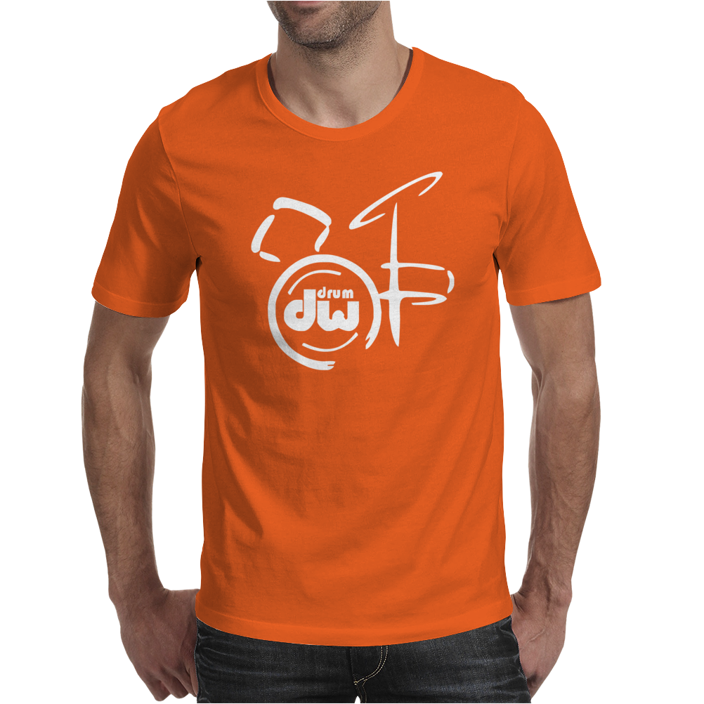 DW Drum Music Instrument Logo Mens T-Shirt