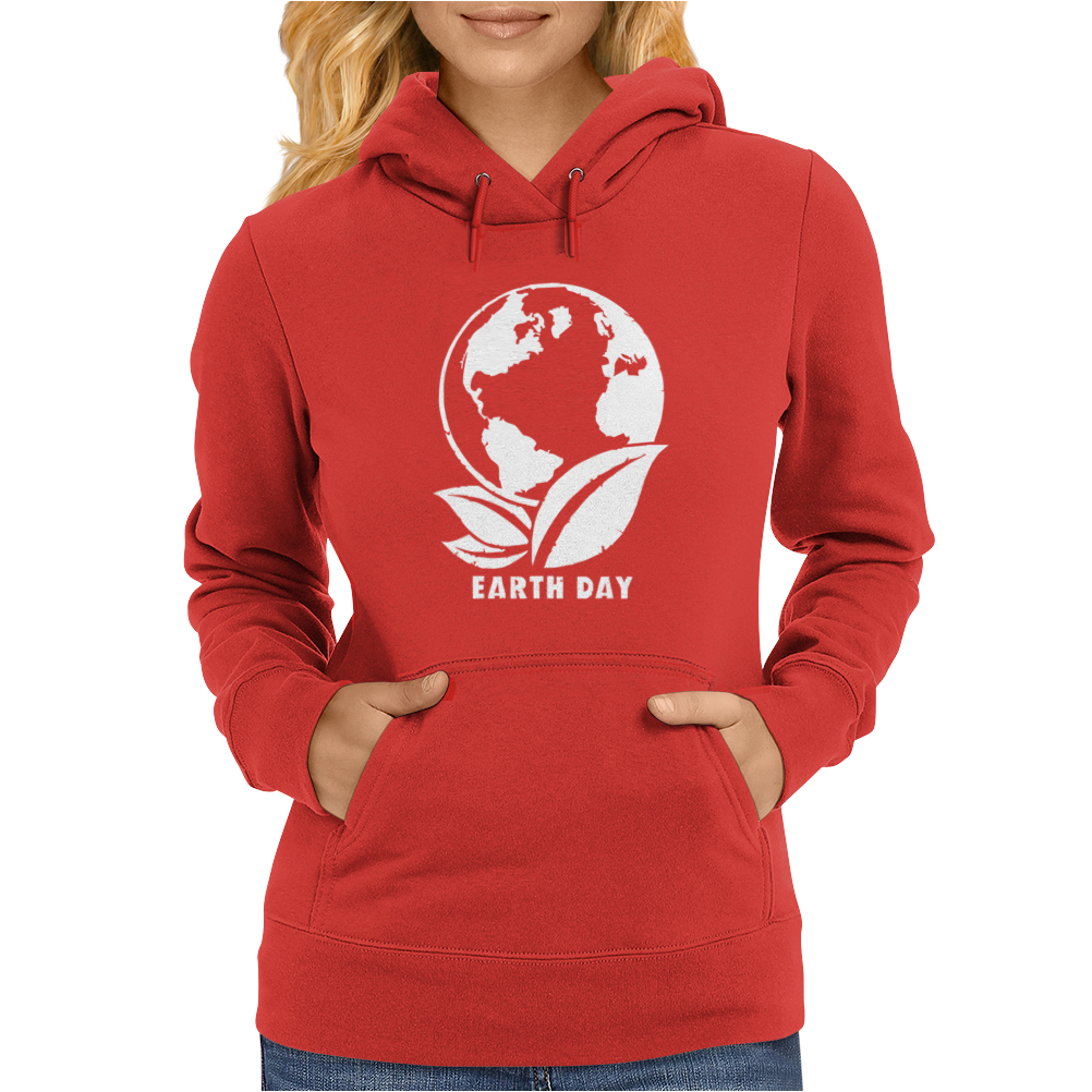 Earth Day Planet Womens Hoodie