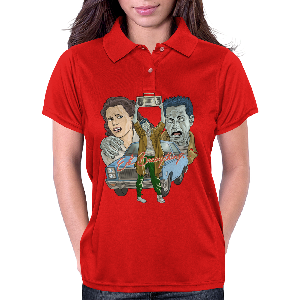 Eat Brainything from Zombie Love Womens Polo