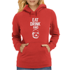 Eat Drink And B Womens Hoodie
