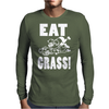 Eat Grass Mens Long Sleeve T-Shirt