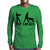 Eat Locals Mens Long Sleeve T-Shirt