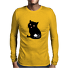 Eat my shit - cat Mens Long Sleeve T-Shirt