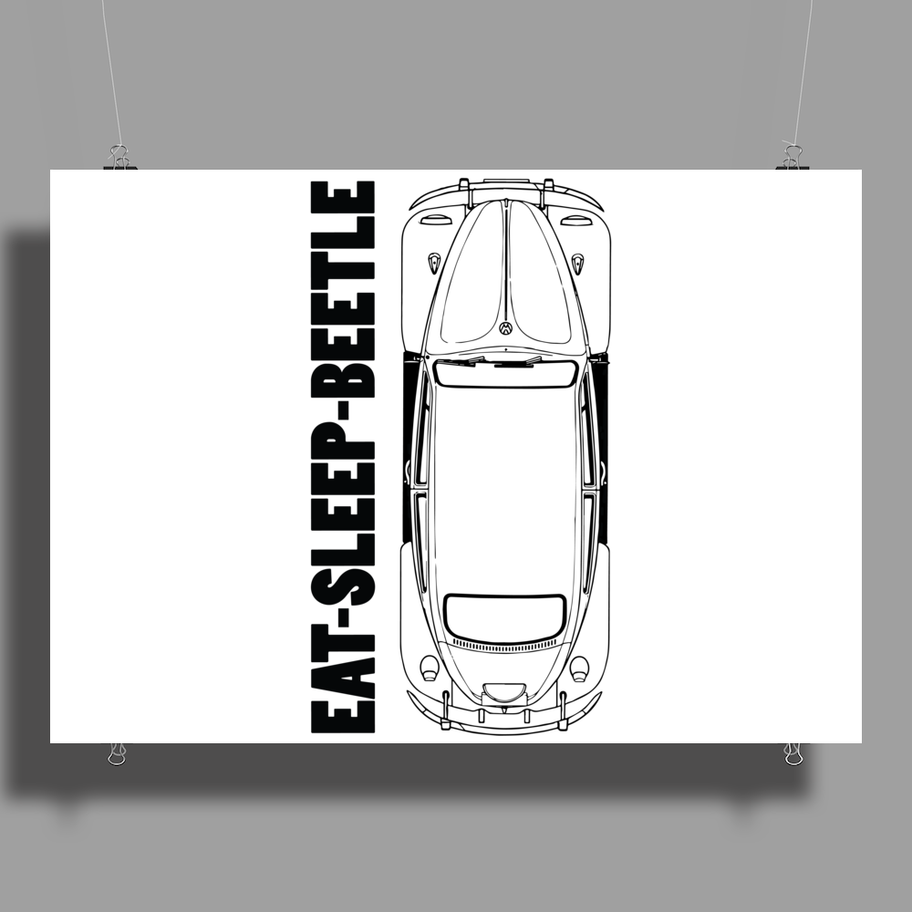 Eat Sleep Beetle Poster Print (Landscape)