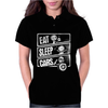 Eat Sleep Cars Womens Polo