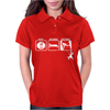 Eat Sleep Climb - 2 Climbers Distressed Womens Polo
