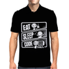 Eat Sleep Code V3 programmer Mens Polo