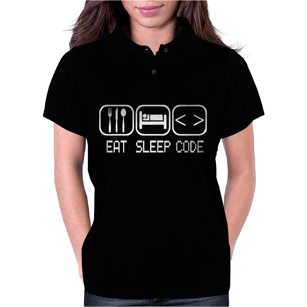 Eat Sleep Code Womens Polo