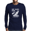 Eat Sleep Fish Repeat Funny Fishing Mens Long Sleeve T-Shirt