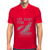 Eat Sleep Fish Repeat Mens Polo