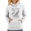 Eat Sleep Fish Repeat Womens Hoodie