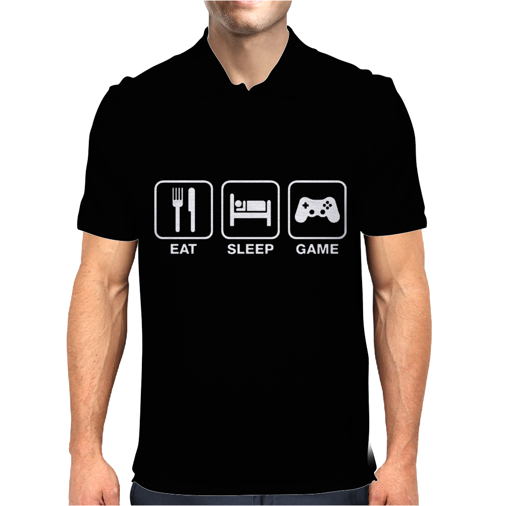 Eat Sleep Game Gamer Mens Polo