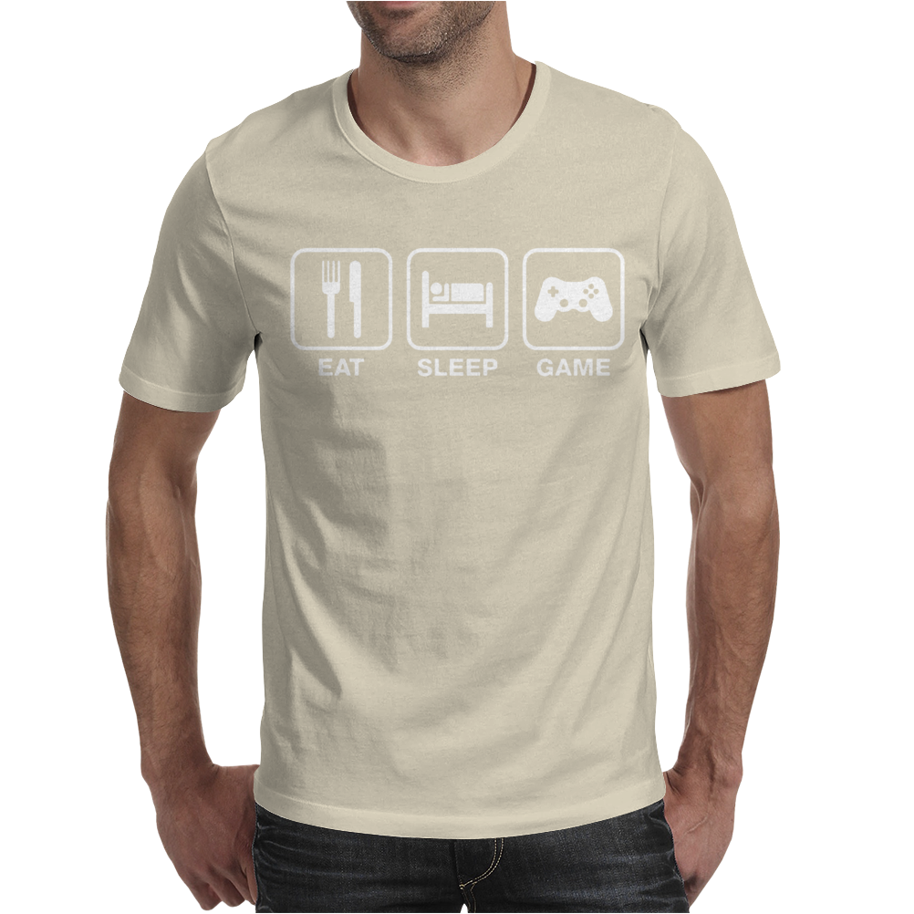Eat Sleep Game Gamer Mens T-Shirt