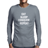 EAT SLEEP Mens Long Sleeve T-Shirt