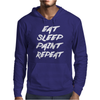 Eat Sleep Paint Repeat Mens Hoodie