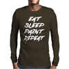 Eat Sleep Paint Repeat Mens Long Sleeve T-Shirt
