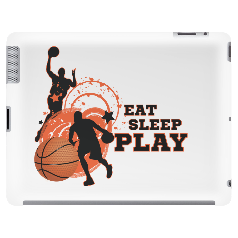 Eat sleep play T-shirt, basketball, love Tablet (horizontal)