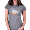 eat sleep qonquer Womens Fitted T-Shirt