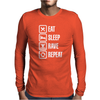 Eat sleep rave repeat Mens Long Sleeve T-Shirt
