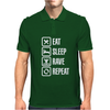 Eat sleep rave repeat Mens Polo
