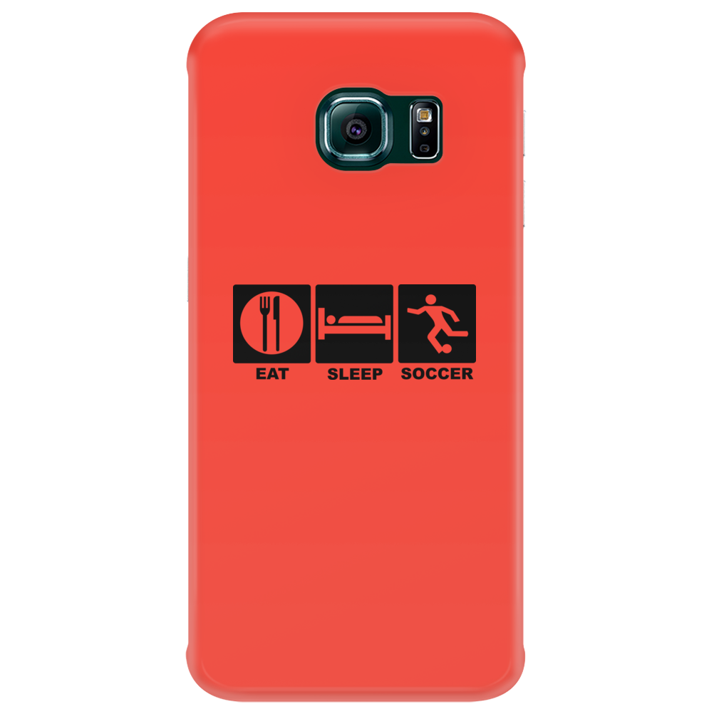 eat, sleep, soccer, repeat Phone Case