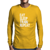 Eat, Sleep, Train, Repeat Mens Long Sleeve T-Shirt