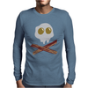 Egg Bacon Skull Bones funny Mens Long Sleeve T-Shirt