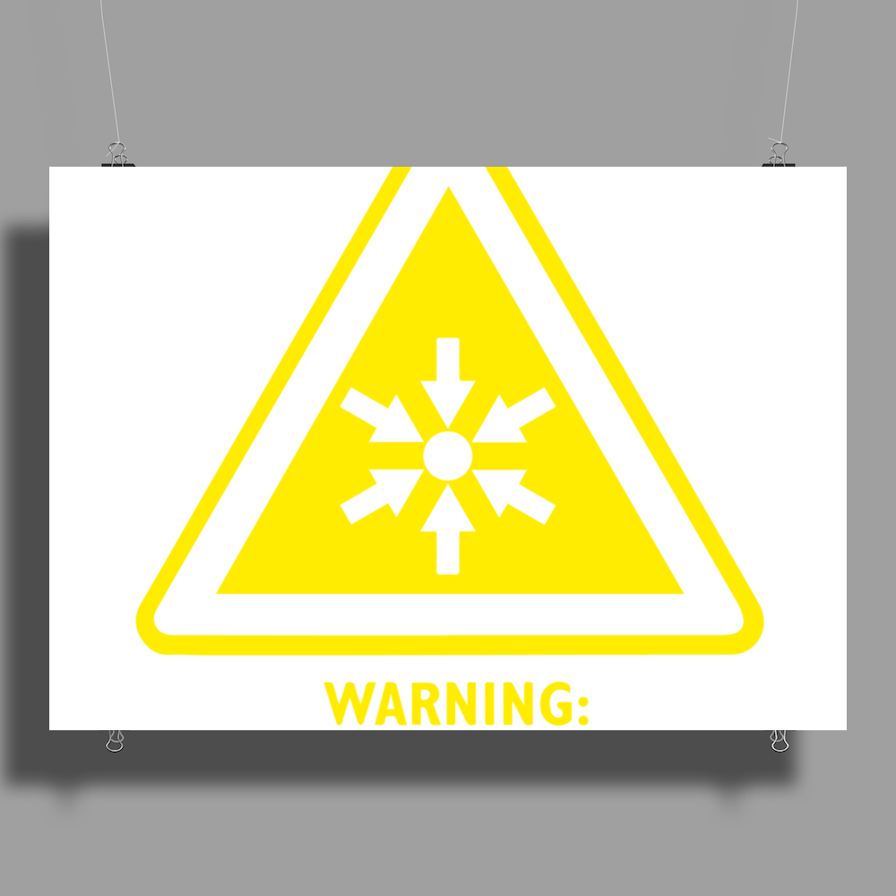 Ego Hazard Warning Sign Poster Print (Landscape)