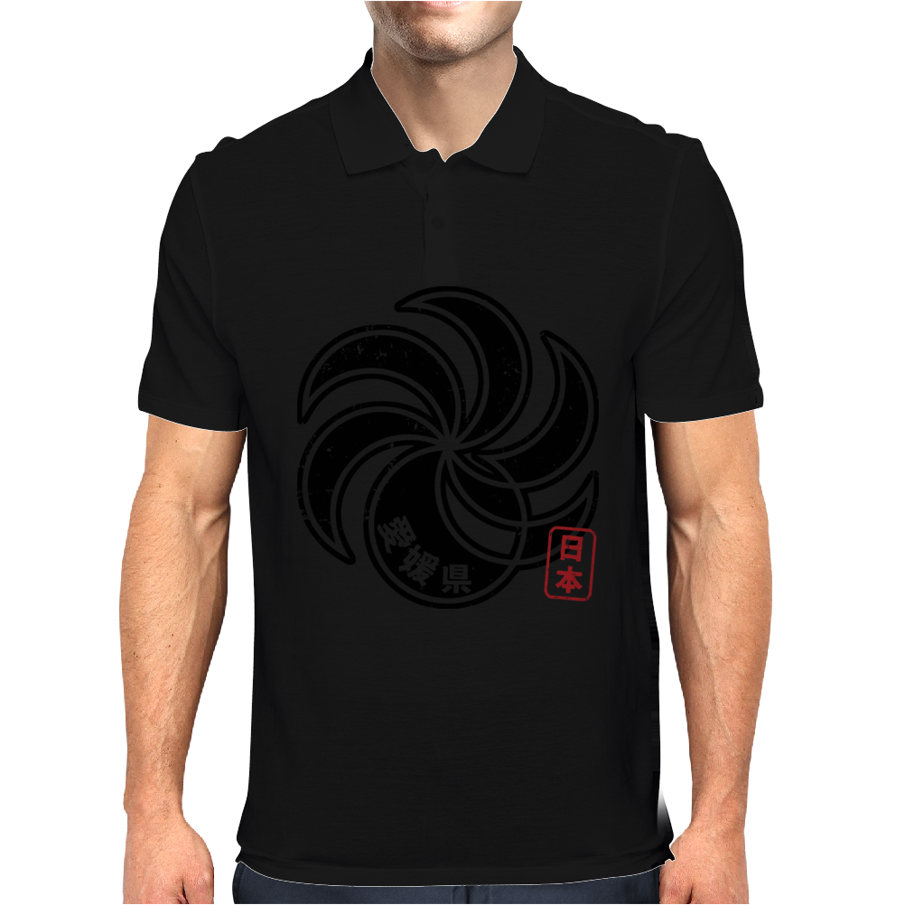 EHIME Japanese Prefecture Design Mens Polo