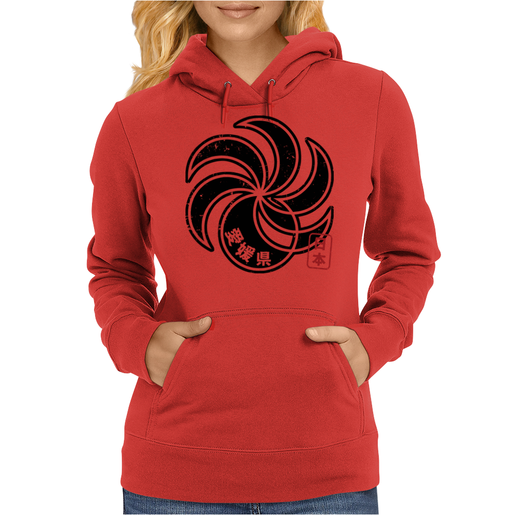 EHIME Japanese Prefecture Design Womens Hoodie
