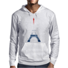 Eiffel tower in colors of France Flag - blue white red Mens Hoodie
