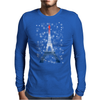 Eiffel tower in colors of France Flag - blue white red Mens Long Sleeve T-Shirt