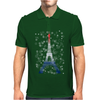 Eiffel tower in colors of France Flag - blue white red Mens Polo