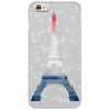 Eiffel tower in colors of France Flag - blue white red Phone Case