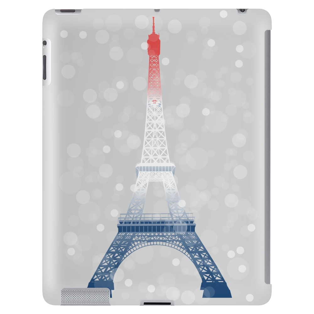 Eiffel tower in colors of France Flag - blue white red Tablet