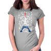 Eiffel tower in colors of France Flag - blue white red Womens Fitted T-Shirt