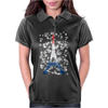 Eiffel tower in colors of France Flag - blue white red Womens Polo