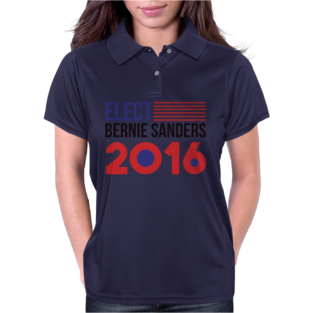 Elect Bernie Sanders 2016 - Flag Design Womens Polo