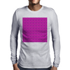 Electric Pink Cloud Mens Long Sleeve T-Shirt