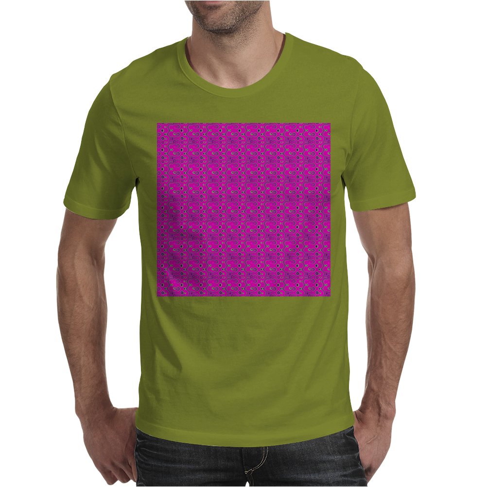 Electric Pink Cloud Mens T-Shirt